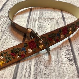 Accessories - Floral Embroidered Belt Size XL